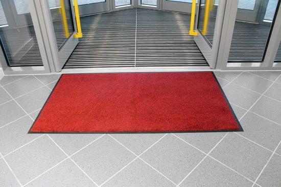 Červená textilní čistící vnitřní vstupní rohož - 0,9 cm