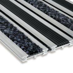 FLOMA Textilní gumová hliníková čistící vstupní rohož WellaT - 100 x 100 x 1,4 cm