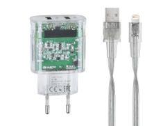 RivaCase polnilnik VA4125 TD2 3,4 A + podatkovni kabel Apple iPhone Lightening