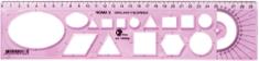 College ravnilo Noma 5 30 cm, roza
