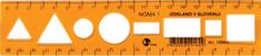College ravnilo Noma 1 20 cm, oranžen