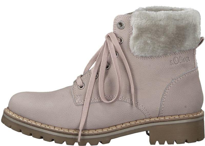 Oliver dámská kotníčková obuv 39 růžová 9c4f03e1d1