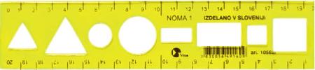 College ravnilo Noma 1 20 cm, rumen