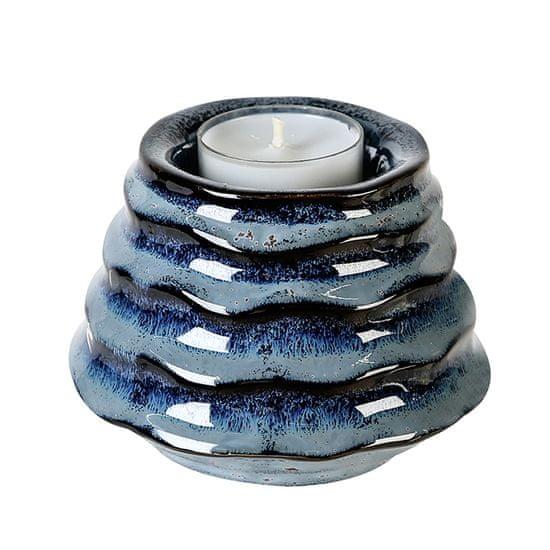 Papillon Čajový svietnik keramický Foggia, 10 cm, modrá