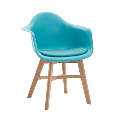 BHM Germany Konferenční / jídelní židle Kapital, přírodní podnož, modrá