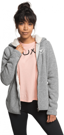 ROXY bluza Super Cosy Fl A J Otlr Ktah Charcoal Heather S