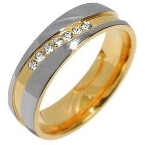 Silvego Snubní ocelový prsten pro ženy MARIAGE RRC2050-Z 50 mm RRC2050-Z
