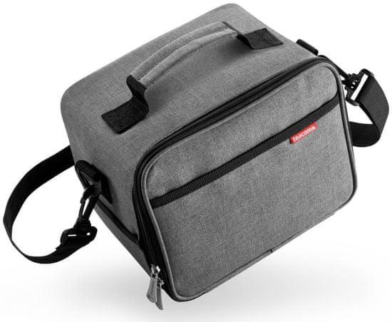 Tescoma torba termoizolacyjna FRESHBOX z 3 pojemnikami, antracyt