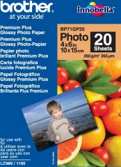 Brother fotopapír premium Glossy BP71GP20 10 x 15, 20ks