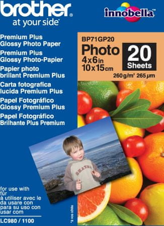 Brother foto papir Glossy, 10 x 15 cm
