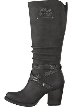 s.Oliver ženski škornji, črni, 38
