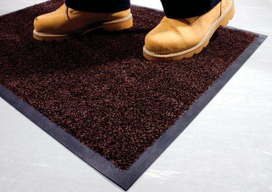 Hnědá textilní čistící vnitřní vstupní rohož - 0,9 cm