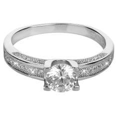 Brilio Silver Stříbrný zásnubní prsten 426 158 00096 04 - 2,55 g stříbro 925/1000