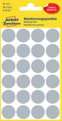 Avery Zweckform okrogle markirne etikete 3171, 18 mm, 96 kosov, sive