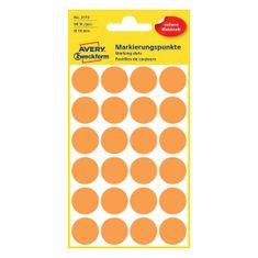 Avery Zweckform okrogle markirne etikete 3173, 18 mm, 96 kosov, neonsko oranžne