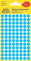 Avery Zweckform okrogle markirne etikete 3011, 8 mm, 416 kosov, modre