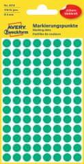 Avery Zweckform okrogle markirne etikete 3012, 8 mm, 416 kosov, zelene