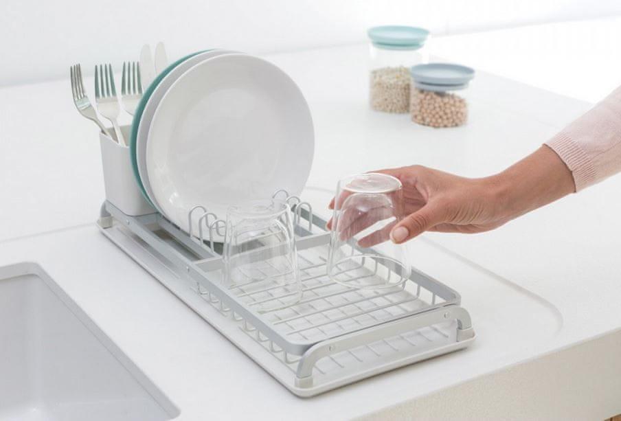 Brabantia Odkapávač na nádobí střední, stříbrný