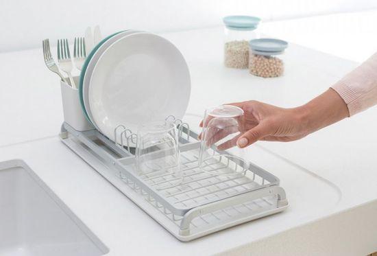 Brabantia kompaktna podloga za sušenje posode, svetlo siva - Odprta embalaža