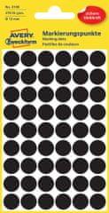 Avery Zweckform okrogle markirne etikete 3140, 12 mm, 270 kosov, črne