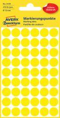 Avery Zweckform okrogle markirne etikete 3144, 12 mm, 270 kosov, rumene