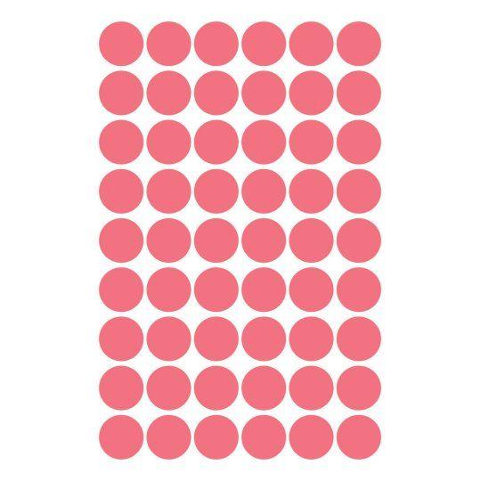 Avery Zweckform okrogle markirne etikete 3147, 12 mm, 270 kosov, svetlo rdeče