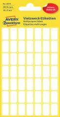 Avery Zweckform večnamenske biro etikete 3072, 16 x 9 mm, 294 kosov, bele