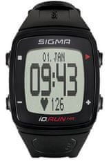 Sigma športna ura iD.Run HR, črna
