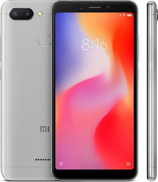 Xiaomi Redmi 6, 4GB/64GB, Dual SIM, šedý