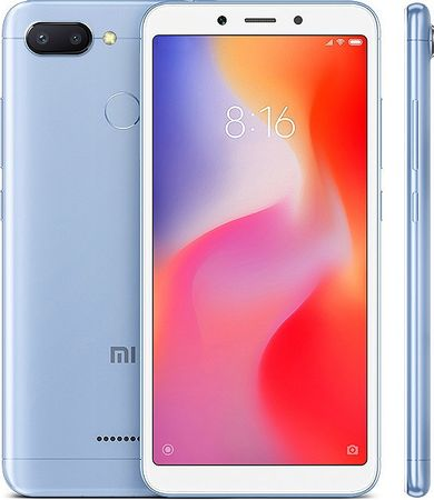 Xiaomi Redmi 6, 3GB/32GB, Global Version, modrý
