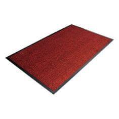 Červená textilní čistící vnitřní vstupní rohož - 0,7 cm