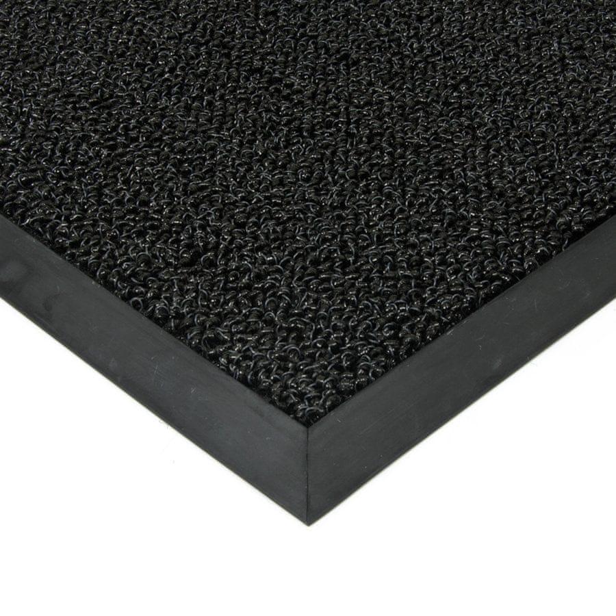 FLOMA Černá plastová zátěžová vstupní čistící rohož Rita - 60 x 80 x 1 cm