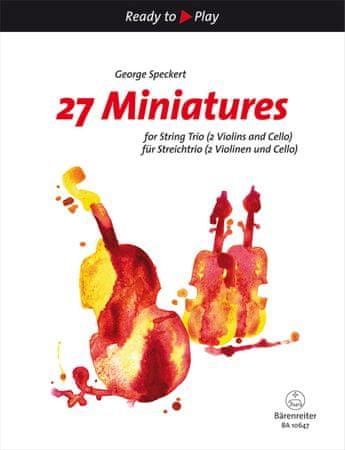 KN 27 Miniatures  Noty pro smyčcové trio