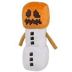 J!NX plišasta figura Minecraft Snow Golem, 29,21 cm
