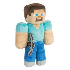 J!NX plišasta figura Minecraft Steve. 30,48 cm