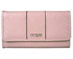 Guess Dámská peněženka Ware patent logo slim wallet Pink