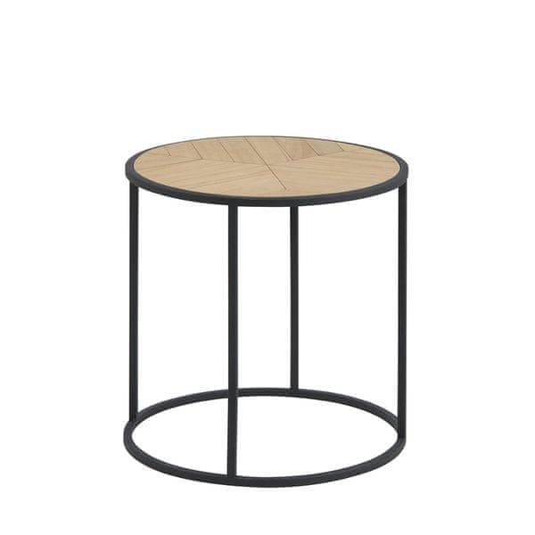 Design Scandinavia Konferenční stolek Kortez kulatý, 45 cm