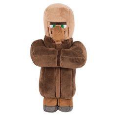 J!NX plišasta figura Minecraft Villager, 30,48 cm