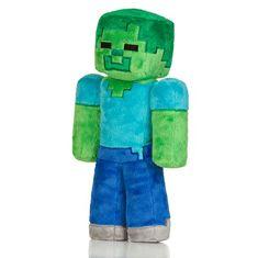 J!NX plišasta figura Minecraft Zombie, 30,48 cm