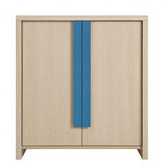 CAPS, skříňka KOM2D, dub sv. belluno/modrá