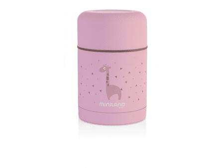 Miniland Baby Termoska Silky na jídlo 600ml, Pink
