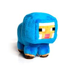J!NX plišasta figura Minecraft Baby Blue Sheep, 17,78 cm
