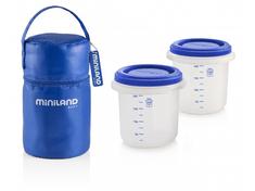 Miniland Baby Termoizolační pouzdro + kelímky na jídlo 2ks