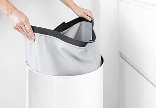 Brabantia vreča za perilo, 60L, siva