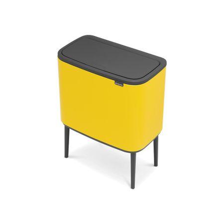 Brabantia koš za smeti Bo Touch 11+23L rumena