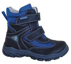 Protetika Chlapecké zimní boty Hasko - šedo-modré