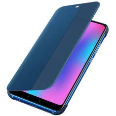Huawei preklopna torbica Smart View za Honor 10, modra z okenčkom