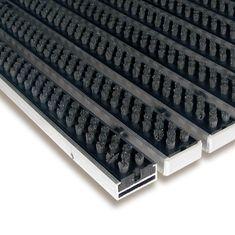 FLOMAT Šedá hliníková kartáčová venkovní vstupní rohož Alu Super, FLOMAT - 1,7 cm