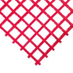 Červená olejivzdorná protiskluzová průmyslová univerzální rohož (mřížka 22 x 22 mm) - 1,2 cm