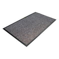 Šedá textilní čistící vnitřní vstupní rohož - 200 x 130 x 0,8 cm